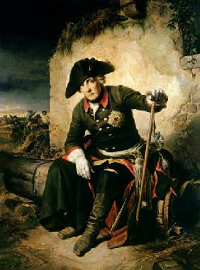 Friedrich II. after the battle of Kolin