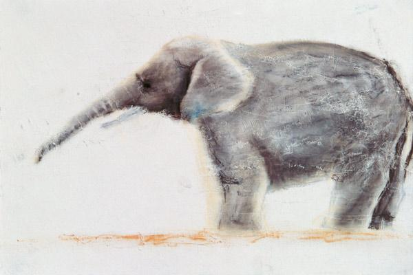 Nam, Jung Sook  : Elephant (pastel on paper)...
