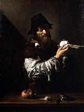 Portrait of an Old Man with an Onion