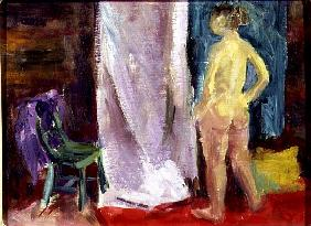 Nude with Green chair, 1995 (oil on canvas)