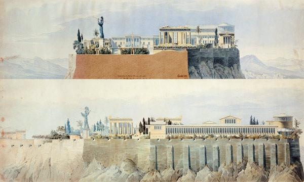 Views on the Akropolis toward East and North