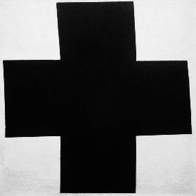 Malewitsch, Kazimir Severinovich : The black cross.