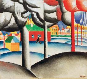 K. Malevitch, Landscape (Winter) / 1909