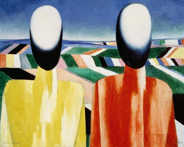 Malevich / Two Peasants / 1928/32