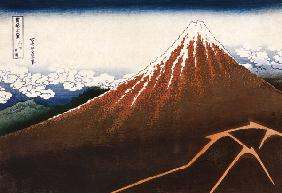 Rainstorm Beneath The Summit (The Black Fuji), From The Series ''Thirty-Six Views Of Mount Fuji''