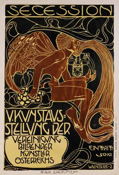 Poster for the 5th exhibition of the Viennese secession