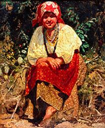 Young girl from Weissrussland (study to the painting 'Anushka')