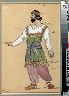 Costume design for the opera The Snowstorm by G. Sviridov