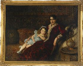 Interior with Mother and Daughter