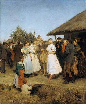 Wedding in a Hungarian village