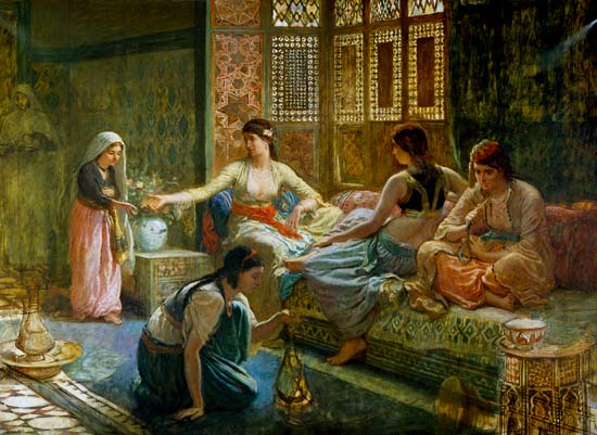 Interior Of A Harem Leon Auguste Adolphe Belly As Art