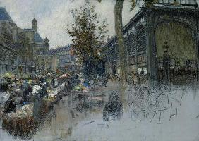 Study for Les Halles, 1893 (pastel on card)