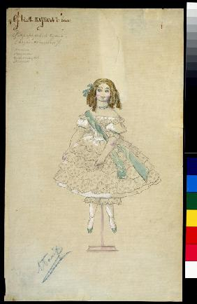 Costume design for the ballet The Fairy Doll by J. Bayer