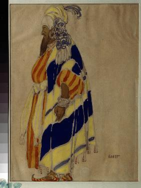 Costume design for the Ballet Islamey by M. Balakirev