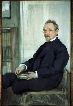 Portrait of the writer and philosopher Vasily V. Rozanov (1856-1919)