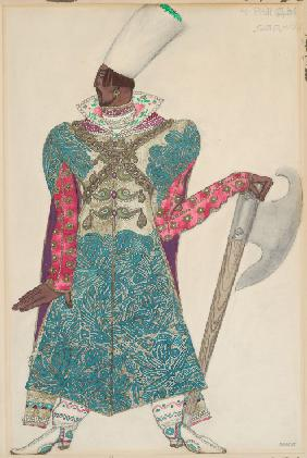 Rynda. Costume design for the opera Sadko by N. Rimsky-Korsakov