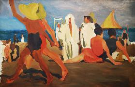 Bathers on the Lido, Venice (Serge Diaghilev and Vaslav Nijinsky on the Beach)