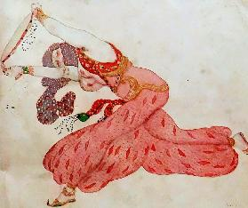 Almee. Costume design for the ballet Sheherazade by N. Rimsky-Korsakov