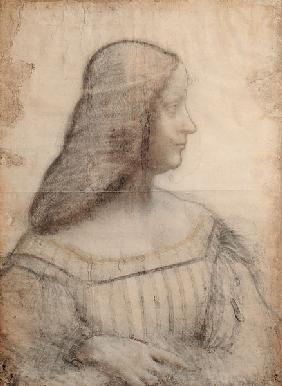 Portrait of Isabella d'Este (1474-1539) (red chalk & pierre noire on paper)
