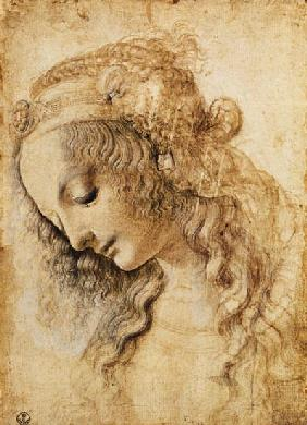 da Vinci, Leonardo : Head of a woman