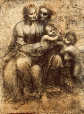 da Vinci, Leonardo : The virgin and child with ...