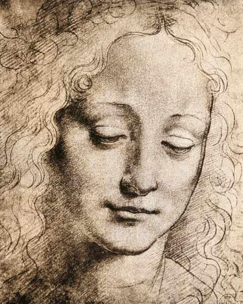 da Vinci, Leonardo : Head of a Young Girl