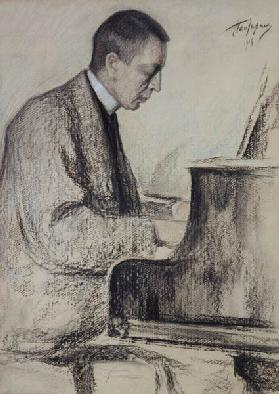 Portrait of the composer S.Rachmaninow.