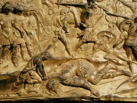 David And Goliath Detail From The Origi Lorenzo