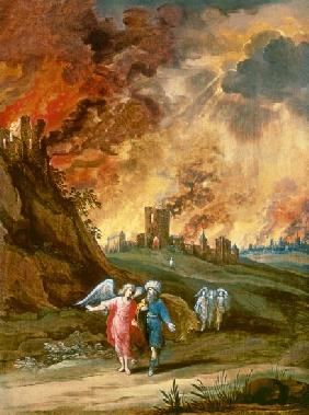 Lot and His Daughters Leaving Sodom