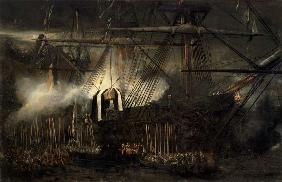 The Shipment of Napoleon's Ashes Aboard the 'Belle-Poule' at Saint Helena, 15th October 1840