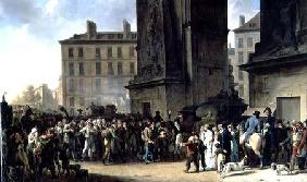 The Conscripts of 1807 Marching Past the Gate of Saint-Denis