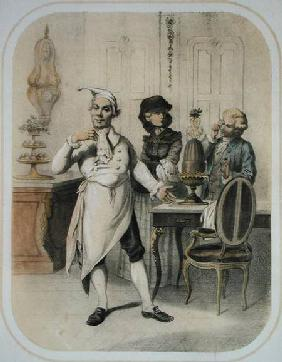 Pride in the Kitchen, from a series of prints depicting the Seven Deadly Sins