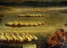 The naval battle of Lepanto.