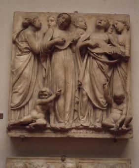 Singing angels, relief from the Cantoria