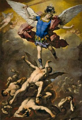 Archangel Michael overthrows the rebel angel