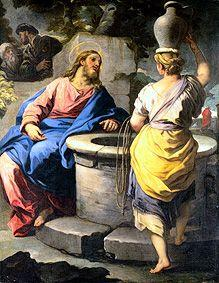 Christ and the Samariterin at the fountain