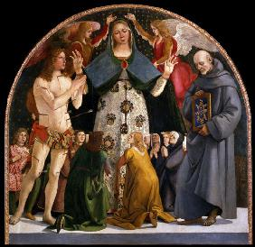Signorelli, Luca : Madonna of Mercy and Saint...