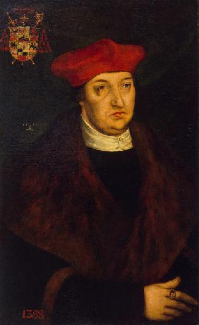 Potrait of Cardinal Albrecht of Brandenburg (1490-1545), Elector and Archbishop of Mainz