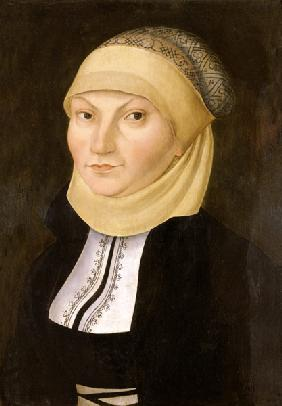 Portrait of Katharina of Bora, wife of Martin Luthers.