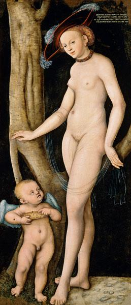 Venus and Cupido with a honeycomb