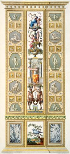 Panel from the Raphael Loggia at the Vatican, from 'Delle Loggie di Rafaele nel Vaticano', engraved