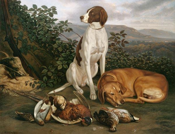 Hounds with game. 1860