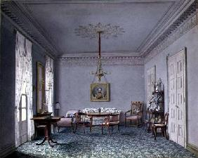 Drawing room Interior in the Palace in Stuttgart, Wurttemburg  on