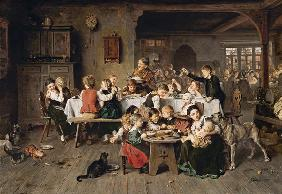 A children's party (the children's table)