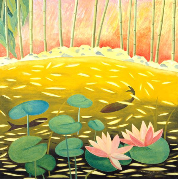 Water Lily Pond III, 1994 (oil on canvas)