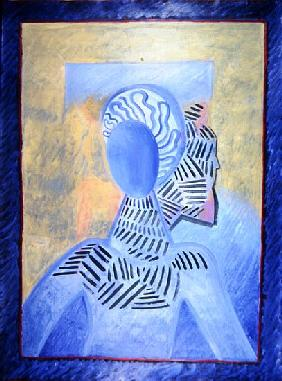 Zoe l''Africaine, 1993 (oil on paper)