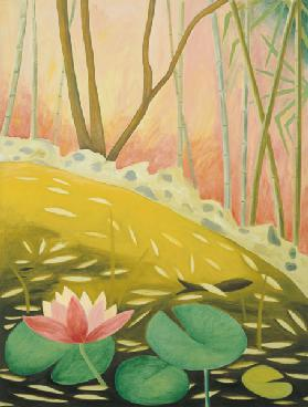 Water Lily Pond II, 1994 (oil on canvas)