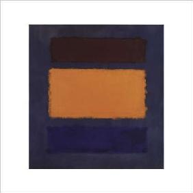 Rothko, Mark : Brown, Orange, Blue on Mar...