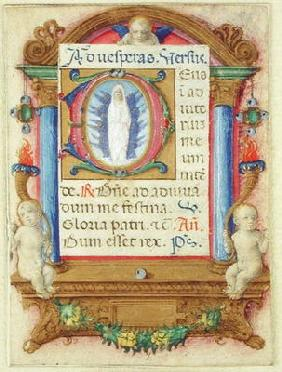 Virgin in Glory, c.1480 (vellum)