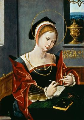 Portrait of a lady writing